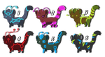 Kitten Point Adoptables (1/6 available) by SunnyDee13
