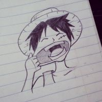 Luffy Doodle by starbuxx