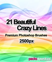 Crazy Lines Premium Brushes by Packsdownload