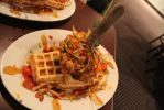 Chicken and Waffles by NickBentonArt