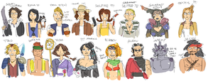 FF8 + 10 drawn from memory by emlan