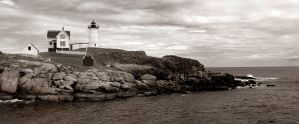 Nubble Light by StephenMasiello