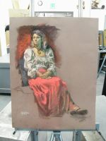 Seated Figure by ZacharyMadere