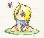 Chibi Ed with a Butterfly by Aiko-Yamada