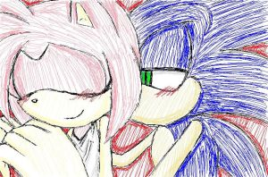 Sonamy with paint by drakshadow666