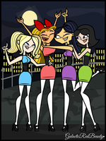 Lindsay, Dawn, Ella, and Kitty as the PPG by Galactic-Red-Beauty