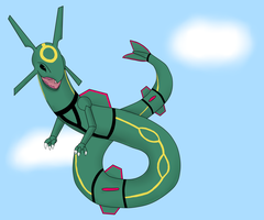 Raquaza by MelaneytheMew