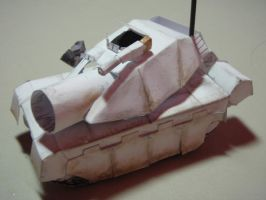 My own paper tank by HamCrumbs