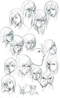 Buncha Charon Faces by saturn9calina