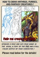 Help Me Create a How To Draw Book ! Sponsor a Page by lady-cybercat