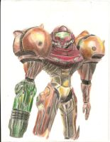 Samus Aran touch up by archus7