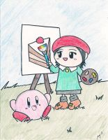 Kirby and Adeleine by Jenime39
