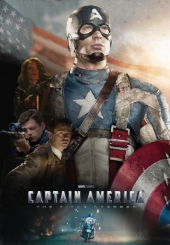 Captain America Fan Poster 2 by BIGBMH