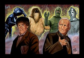 The first 2 Doctor Who 's by NIK-Nick