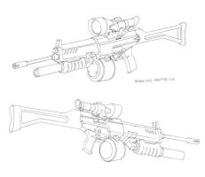 GI Joe designs Gung Ho's gun by DanNortonArt