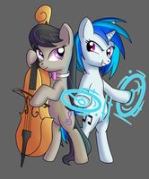 Vinyl and Octavia Tattoo Design by MoonSango