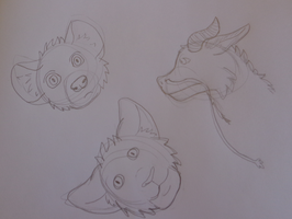 WD Little Head Shot Doodles 1 of 4 by The-Smile-Giver