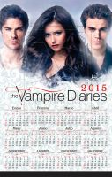 The Vampire Diaries wall calendar 2015 commission by rickymanson