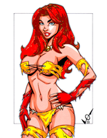 Firestar Savage Land by tigerfaync