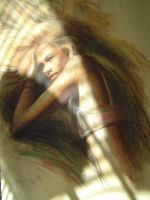 Pastel work of a girl by lusciousdarla