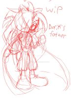 Luquarious Demoni porcupine vampire rough sketch 2 by InkTailedDragon