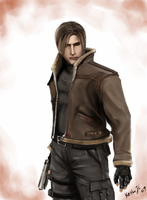 Leon S. Kennedy by keishajl