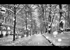 Snowfall in Helsinki by Pajunen