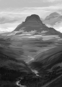 Mountain Value Study by excatriate