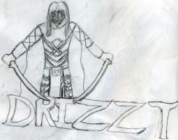 Drizzt with Text by Karoyence