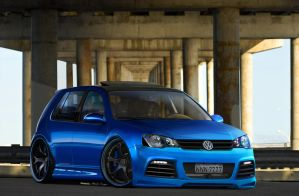 VW Golf Silver Blue by mitsukodesign