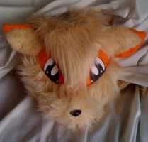 plush Arcanine head by LRK-Creations