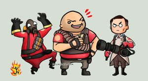 Team Fortress Chibis -part 1- by zelas