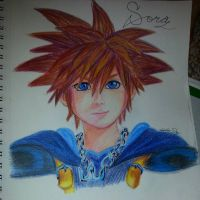 Sora - Kingdom Hearts by luigigamedrawer