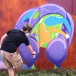 Beginning Orb Suit Mural 2 at Bonnaroo 2014 by danomano65