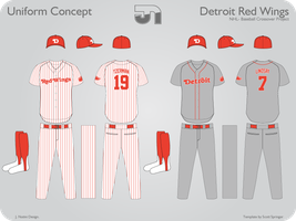Detroit Red Wings Baseball by JimmyNutini
