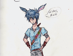 Rise of the Guardians Human Bunnymund close-up by Legend-of-Yaoi