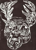 Black Stag by ClaraBacou