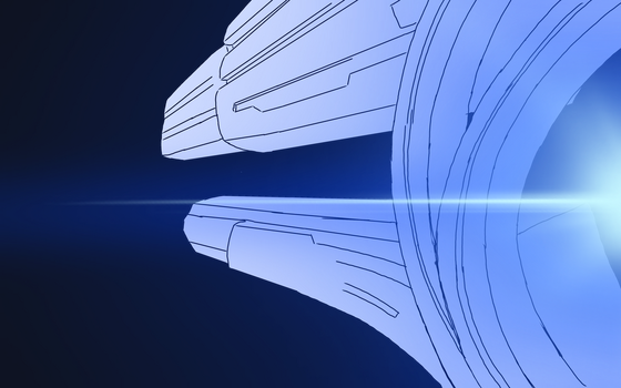 Mass Effect Relay Drawing WIP by shineytrooper