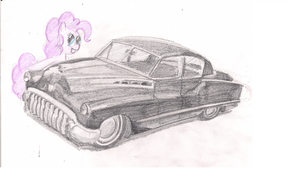 Pinkie Pie and 1956 Buick by AlexandrVirus
