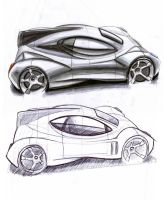 Supercar sketch by MartinEDesign