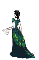 Beetle Wing Ball Gown by daestwen