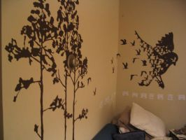 House Trees and Birds by washwithcare