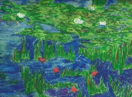 Water Lillies by Claude Monet by FizzyBubbles