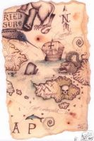 pirate map by HOMELYVILLAIN