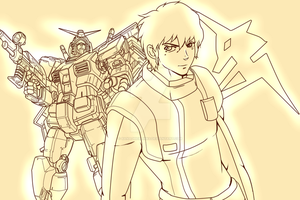 Amuro Ray- The White Devil by Banagherlinks