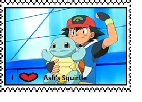 Ash's Squirtle fan stamp by Fran48