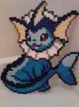 Pokemon: Perler Bead Vaporeon by heatbish