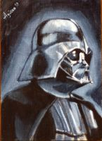ACEO___Lord Vader by mvaguero