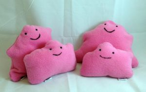 Pokemon - Family of Ditto custom plush by Kitamon