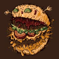Monster Burger by Letter-Q-Artwork